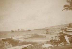 Looking across Home Bay - Ocean Island 1948