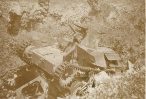 Abandoned Japanese Tank left on Ocean Island ( Banaba)